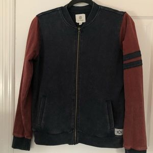 Element Red and Blue Track Jacket Size Medium
